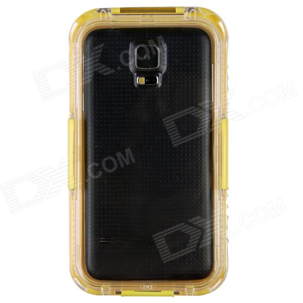 Ultra-Thin Waterproof Dirtproof Shockproof Protective Case for Samsung Galaxy S5 -Yellow metal ring holder combo phone bag luxury shockproof case for samsung galaxy note 8