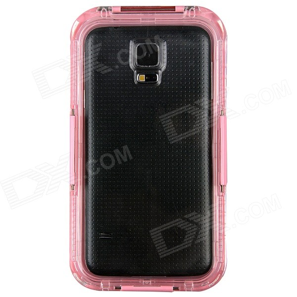 Professional Ultra-Thin Waterproof Dirtproof Shockproof Protective Case for Samsung Galaxy S5 - Pink metal ring holder combo phone bag luxury shockproof case for samsung galaxy note 8