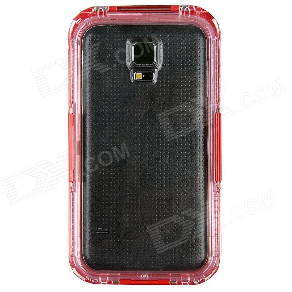 Professional Ultra-Thin Waterproof Dirtproof Shockproof Protective Case for Samsung Galaxy S5 - Red metal ring holder combo phone bag luxury shockproof case for samsung galaxy note 8