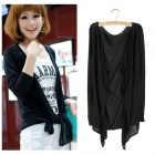 Casual UV Protection Long-sleeved Knit Cotton Blazer / Coat - Black (Free Size)