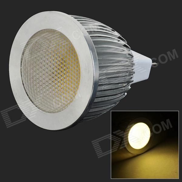 HH04 MR16 5W 250LM 3500K COB LED Warm White Light Lamp / Spotlight - White + Silver (12V)