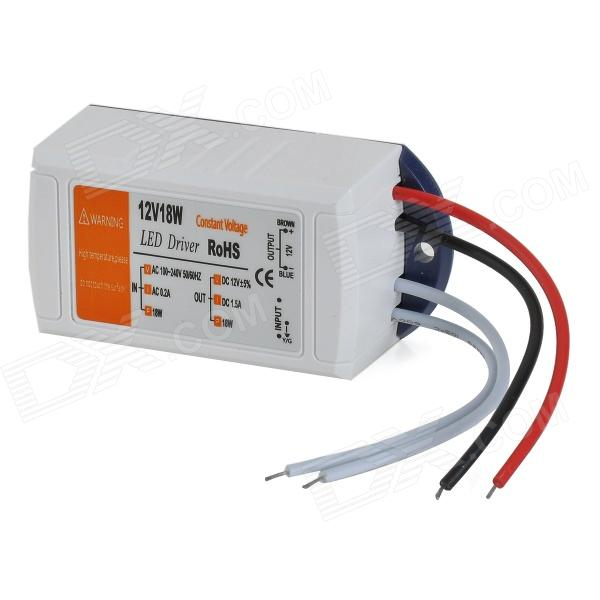 HH32 AC 100~240V to 12V 18W LED Power Supply Transformer - White - DXOther Accessories<br><br>