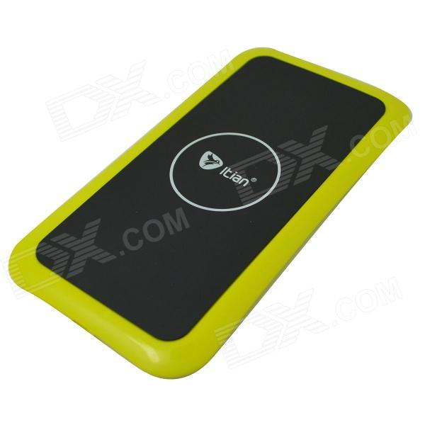 Itian K8 QI Standard Wireless Charger + Receiving Module for Samsung Galaxy S5 - Yellow itian k8 qi standard wireless charger receiving module for samsung galaxy s3 i9300 white
