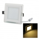 LSON Dual-Layer Glass 6W 500LM 3000K 12-5730 SMD LED Warm White Light Ceiling Light (85~265V)