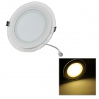 LSON G-12W Round 12W 1000LM 3000K 24-5730 SMD LED Warm White Light Ceiling Panel Lamp (AC 85-265)