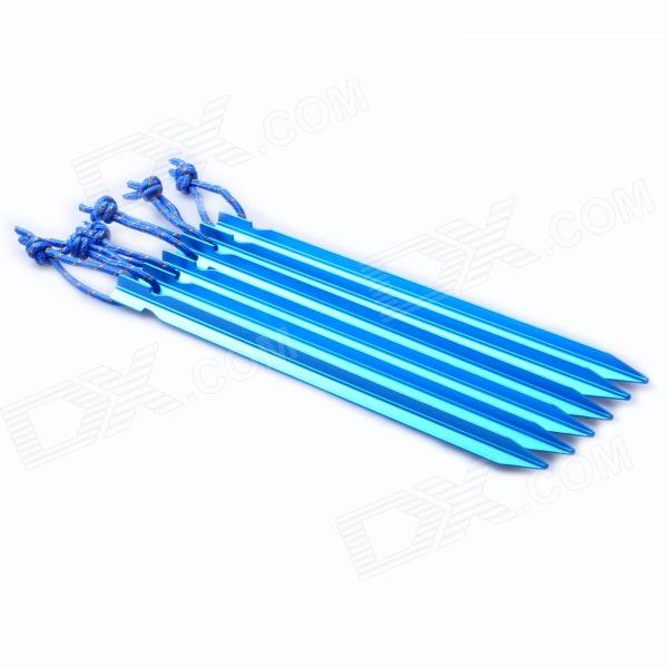 Acecamp 2726 230 milímetros Durable forma triangular da liga de alumínio da barraca Peg + Loop - Azul (6 PCS)