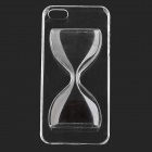 Protective 3D Hourglass Style Plastic Back Case for IPHONE 5 / 5S - Black + Transparent