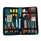 WLXY WL-29 Handy Reparing Maintenance Tool Kit Set for Electronic Devices - Green + Blue