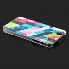 Colorful Rhombus Patterned Back Case for IPHONE SE/5/5S - Multicolor