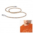 EQute CSS19T2S20C99 Fashionable Men's Stainless Steel Necklace - Silver+ Golden