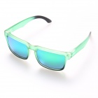 Oreka 999 Moda Polarized TR90 Quadro Resin Lens Sunglasses - Grama Verde