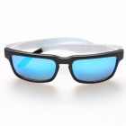 OREKA 999 Fashion Polarized TR90 Frame Resin Lens Sunglasses - Black + Blue