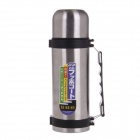 High Quality Stainless Steel Hot & Cold Handy Travel Vacuum Cup - Silver + Black (750ml)