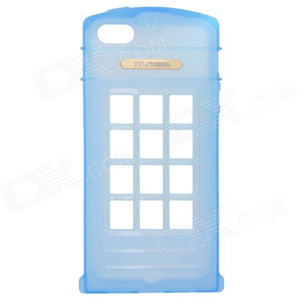 Phone Booth Style Protective TPU Back Case for IPHONE 5 / 5S - Sky Blue цена 2017