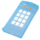 Phone Booth Style Protective TPU Back Case for IPHONE 5 / 5S - Sky Blue