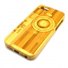 Camera Pattern Detachable Protective Bamboo Back Case for IPHONE 5 / 5S