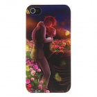 Kinston Lover Hugging in Romantic Sea of Flowers Pattern Matte PC Hard Case for IPHONE 4 / 4S