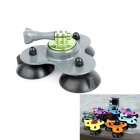 BZ BZC 3-Suction Cup Car Adapter Holder for GoPro Hero 2 / 3 / 3+ / SJ4000 - Light Grey