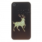 Kinston Wapiti in Dark Pattern PC Hard Case for IPHONE 4 / 4S - Brown + Green