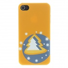 Kinston Christmas Tree with Stars in Orange Pattern Matte Designed PC Hard Case for IPHONE 4 / 4S