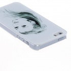 Kinston Young Gir Sketch Pattern Protective Plastic Hard Back Case for IPHONE 5 / 5S - White + Black