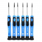 Precision T3 / T4 / T5 / T6 / T7 / T8 Screwdriver Tool Set - Blue + Black (6 PCS)