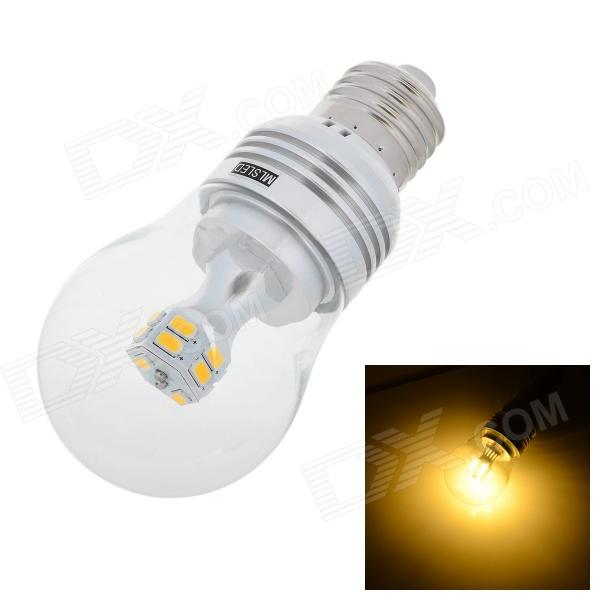 MLSLED E27 4.5W 360lm 3500K 14-5730 SMD LED Warm White Light Bulb - Yellow + Silver (AC 85~265V) mlsled e14 2w 140lm 3500k 10 smd 2835 led warm white bulb white transparent ac 220 240v