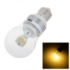 MLSLED E27 4.5W 360lm 3500K 14-5730 SMD LED Warm White Light Bulb - Yellow + Silver (AC 85~265V)