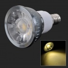 HH08 Dimmable E14 3W 180LM 3500K COB LED Warm White Light Lamp / Spotlight - Dark Grey (AC 220V)
