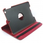 360 Degree Rotation Protective PU Leather Case Cover Stand w/ Stylus for Retina IPAD MINI - Red