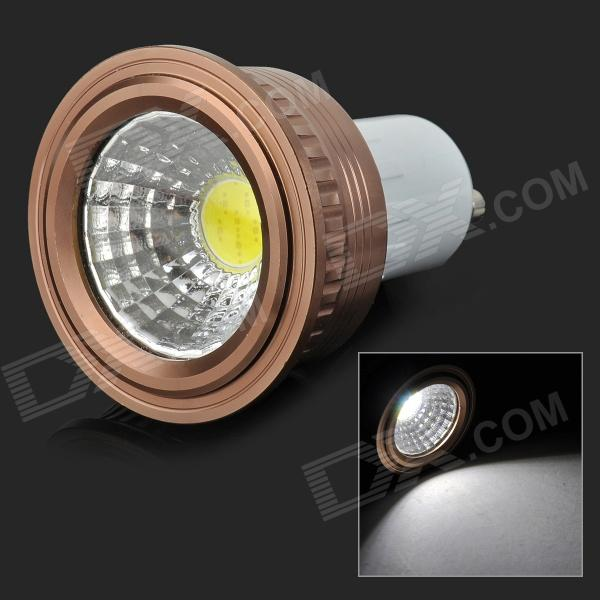 HH16 GU10 3W 180LM 6500K COB LED White Light Lamp / Spotlight - White + Coffee (AC 85~265V)