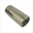 A58 Stylish Iron Car Exhaust Pipe Muffler Tip for SUCCE Nissan / Honda City / Xiali N5 - Silver