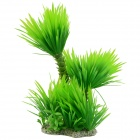 Aquarium Decoration Tower Shaped Plant Simulation Plants - Green + White