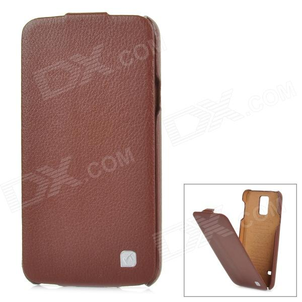 HOCO HS-L079 Protective Durable Flip-open Split Leather Case for Samsung Galaxy S5 - Brown гарнитура a4tech hs 7p