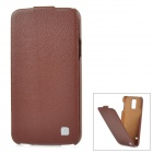 HOCO HS-L079 Protective Durable Flip-open Split Leather Case for Samsung Galaxy S5 - Brown