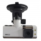 "Sunty 5F5 1.5"" LCD 5.0 MP CMOS Car DVR Camera w/ G-Sensor / 2-IR LED / TF - White"