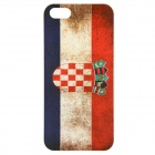 2014 FIFA World Cup Croatia National Flag Relief Painting PC Back Case for IPHONE 5 / 5S