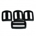 Acecamp 7048 Luggage Strap Adjusted Slide Buckle 25mm - Black (4-Pieces Pack)