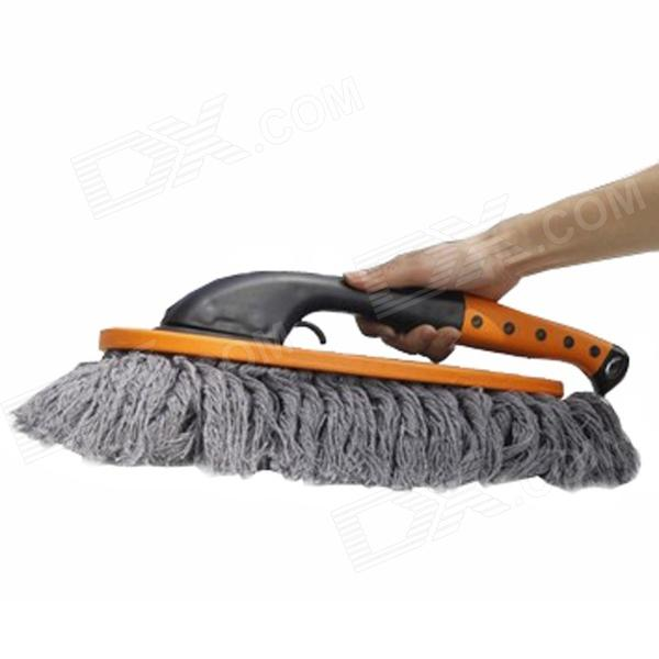 D-K62 Nano Fiber Car Wash Brush Wax Mop Set - Black + Yellow