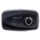 "DYXC D-201 2.7 ""TFT 5.0 MP 1080P double objectif grand angle voiture DVR Camcorder w / G-sensor, 5 LED IR-Noir"