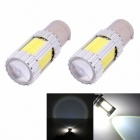 1157 25W 4-COB + Cree XP-E 1700lm LED White Car Backup / Signal Light / Indicator Lamp (12V / 2 PCS)