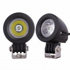 MZ 10W 800lm 6500K LED White Light Round Spot Work Lamps - Black (2 PCS / 9~45V)