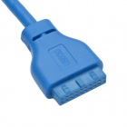 CHEERLINK USB 3.0 Female to 20-Pin USB 3.0 Cable for Front Panel of Desktop Computer - Blue