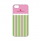 American Greetings iPhone5/5s Hard Case with screen protector - Green Pink Stripe - CA-IGAG003