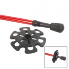 Better 4-Section Retractable Aluminum Alloy Trekking Stick Walking Hiking Pole - Red + Black