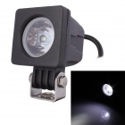 MZ 10W 800lm 6500K LED White Light Square Spot Work Lamps - Black (2 PCS / 9~45V)