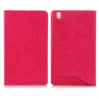 ENKAY Simple Protective PU Leather Case Cover Stand for Samsung Galaxy Tab Pro T320 - Deep Pink