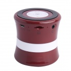SDH-100 Mini Portable Bluetooth V3.0 Stereo Speaker w/ Mic, TF Slot - Red Brown + Black + White