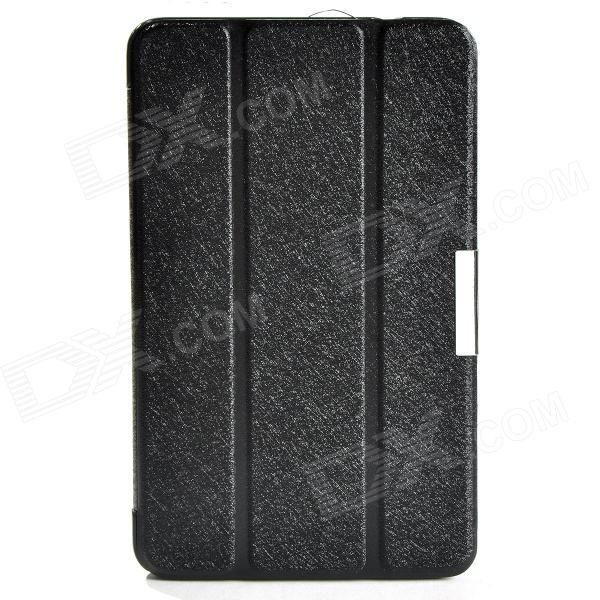 Protective PU Leather Case Cover w/ Magnetic Closure for Samsung Galaxy Tab 4 8.0 - Black protective pu leather case w card slot for samsung galaxy tab pro 8 4 t320 321 black grey