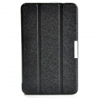 Protective PU Leather Case Cover w/ Magnetic Closure for Samsung Galaxy Tab 4 8.0 - Black
